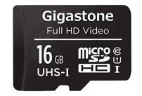 Gigastone 16GB Micro SD Card with Adapter, U1 C10 Class 10 90M/s, Full HD available, Micro SDHC UHS-I Memory Card – Full HD Video Series
