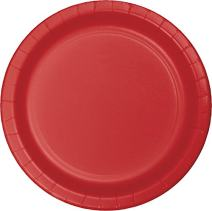 Creative Converting 96-Count Paper Dinner Plates, Classic Red