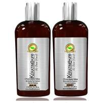 Keratin Cure Brazilian Chocolate Bio with Aloe daily use Shampoo Conditioner 4.1 oz set with Argan oil Biotin SULFATE FREE protect Color Enhance Hair Growth prevent Hair Loss. for keratin treated hair