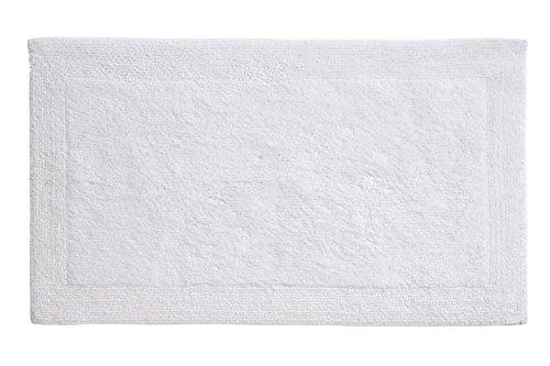 Grund Puro Series 100% Organic Cotton Reversible Bath Rug, 17-inch by 24-inch, White