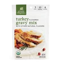 Simply Organic Roasted Turkey Flavored Gravy Mix, Certified Organic, Gluten-Free | 0.85 oz | Pack of 12