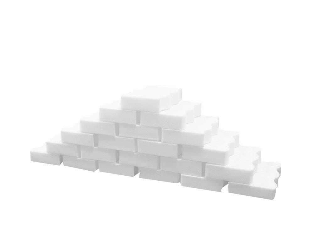 "70Pcs Magic Cleaning Eraser Sponge Melamine Foam, Just Add Water Multi Purpose Bathroom Kitchen Floor Baseboard & Wall Cleaner 4.3 x 2.8 x 0.8"" (White)"