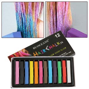 Hair Chalk, Hair Chalk Pens,Temporary Hair Chalk, Washable Hair Color Safe For Kids And Teen,Temporary Color for Party, Girls Gift, Kids Toy, Birthday Christmas Gifts For Girls,12 Bright Colors
