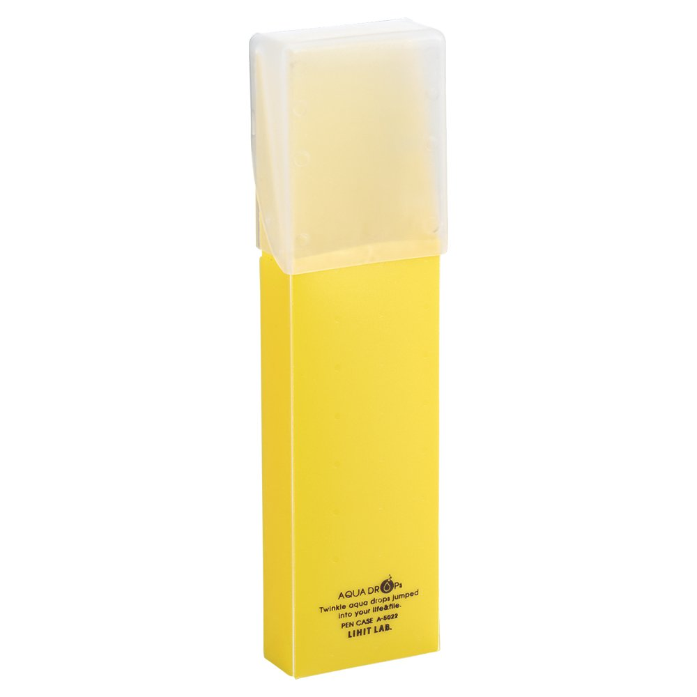 LIHIT LAB. Pen & Pencil Holder, Yellow, 7 x 2 inches (A5022-5)