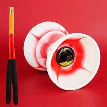 DSJUGGLING Fire Chinese Yoyo Triple Bearing Diabolo Set (Fire Red)