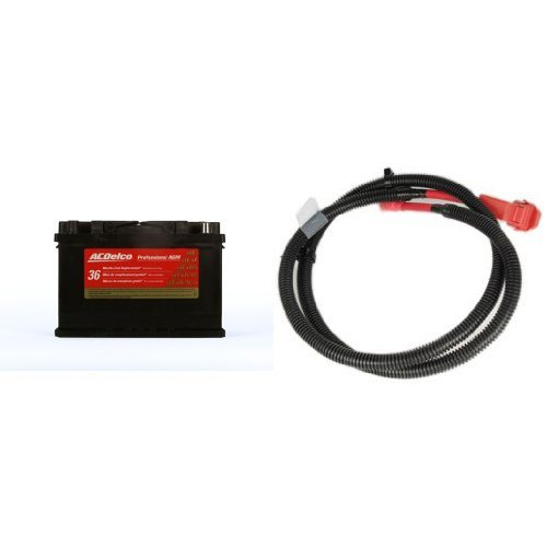 ACDelco 48AGM Professional Automotive AGM BCI Group 48 Battery with Auxillary Battery Positive Cable