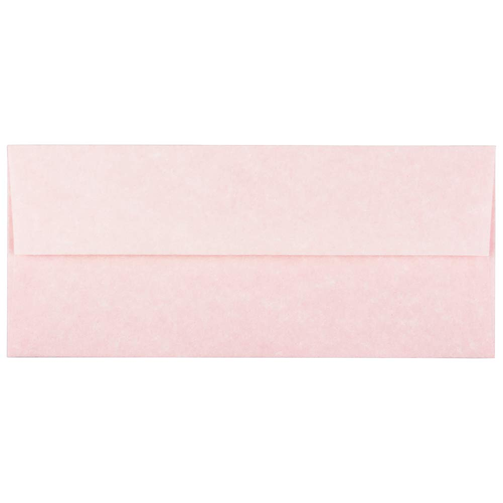 JAM PAPER #10 Business Parchment Envelopes - 4 1/8 x 9 1/2 - Pink Recycled - 25/Pack