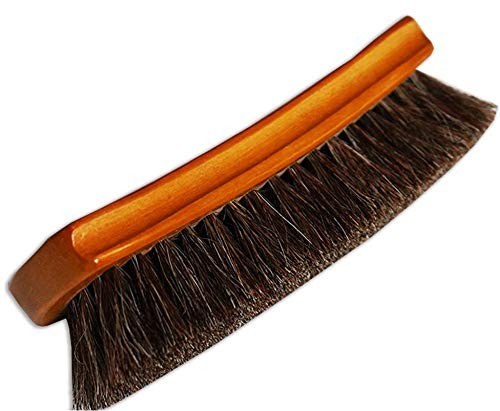 Ultimate Leather Brush for Leather Seats, Leather Boots, Car Interior, Leather Furniture Upholstery - Premium Quality Horsehair Shine Brush by Combat Cleaner