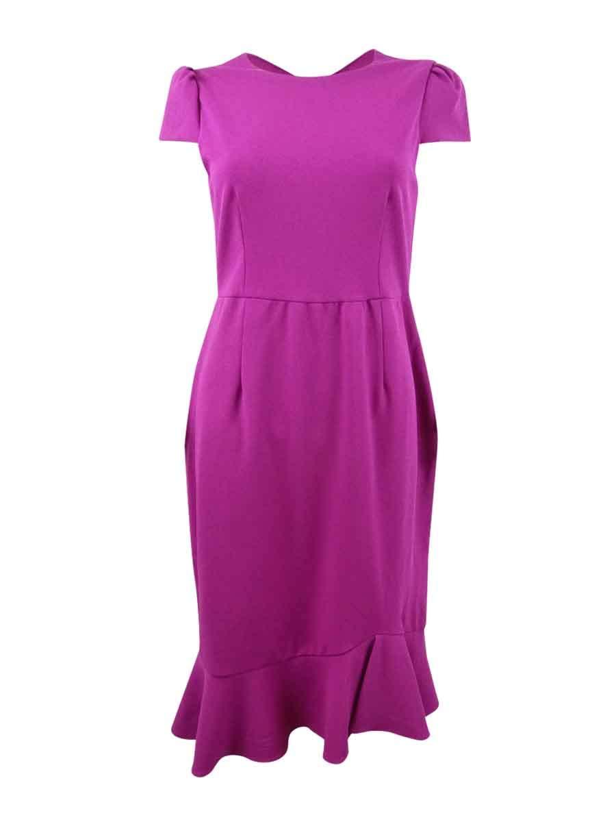 Betsey Johnson Women's Flounce Scuba Sheath Dress