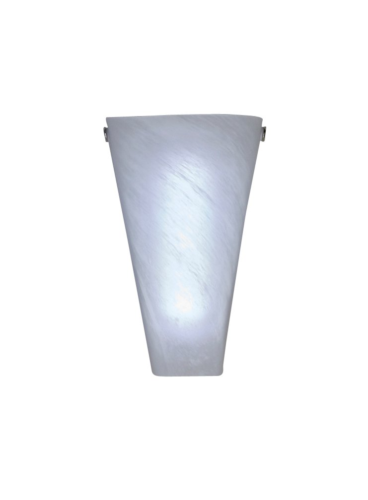 It's Exciting Lighting IEL-4400 Frosted Marble Glass Conical Sconce, Battery Powered Wall Sconce With 4 Hour Timer
