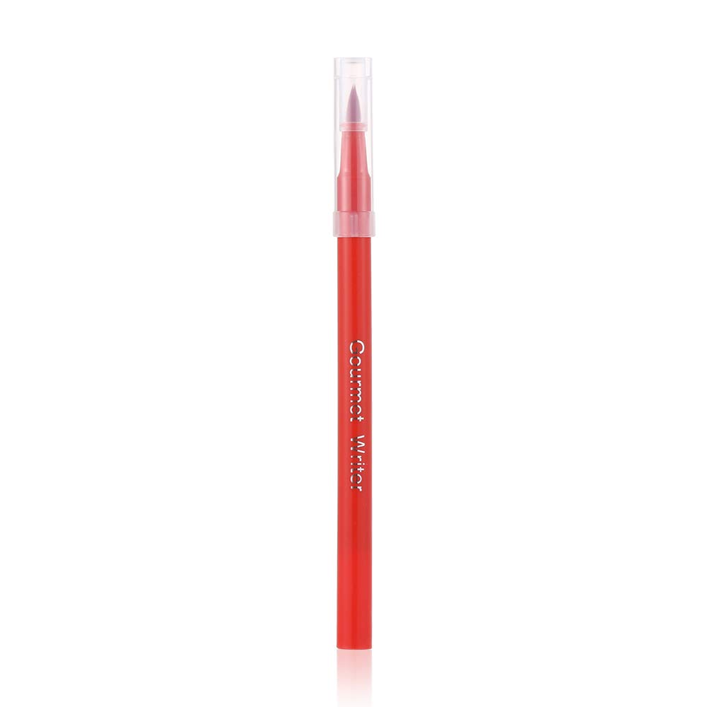 Food Coloring Markers Fine & Thick Tip Food Grade Pens, Edible Ink Colors for Halloween Treats and Holiday Desserts (red)