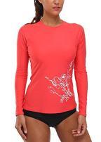 belamo Women's Long Sleeve Rashguard Sun Protection Shirt UPF 50+ Swimwear