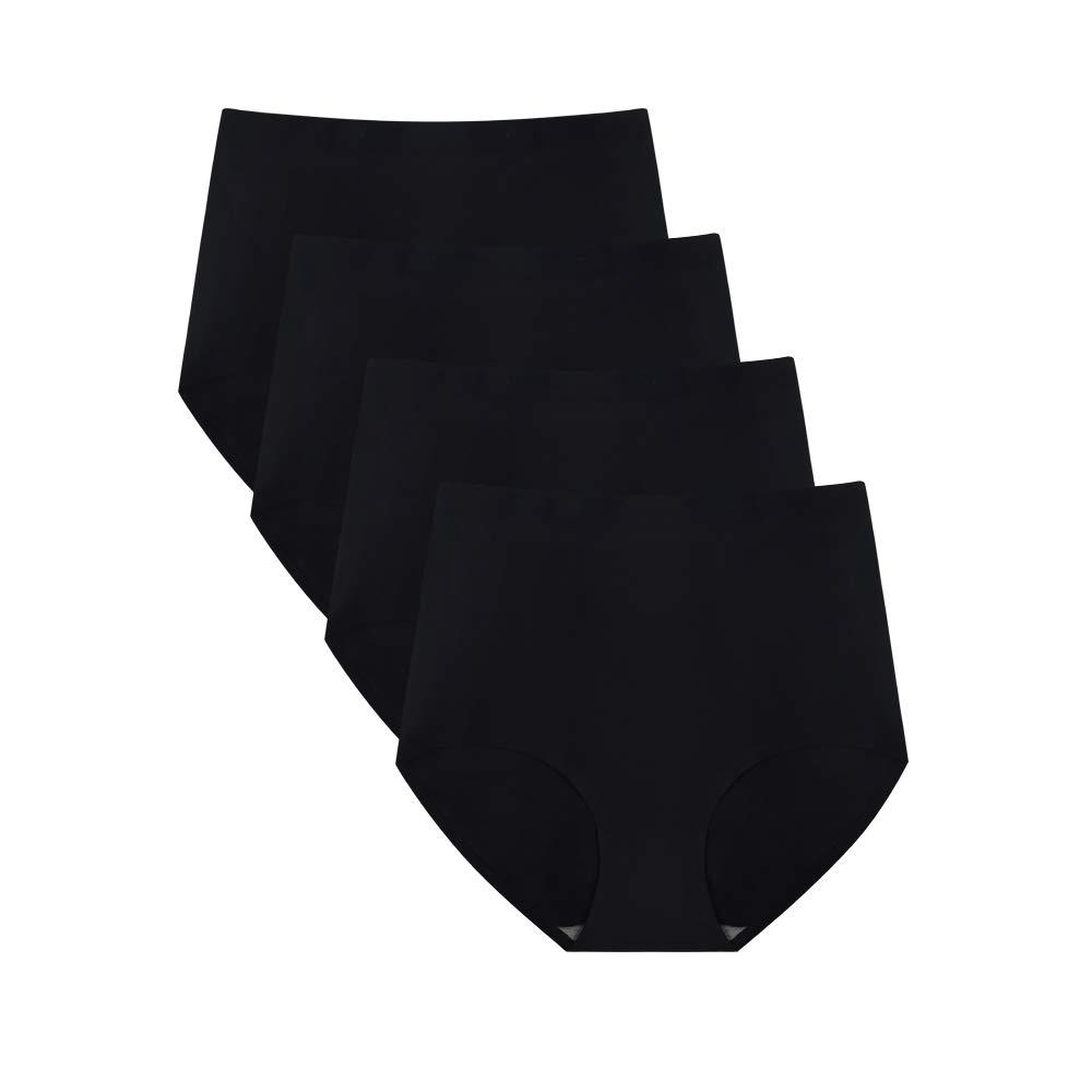 No Show High Waist Briefs Underwear for Women Seamless Panties Multi Pack