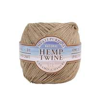 Hemptique Natural Hemp Twine #20 – Made with Love - Eco Friendly - Gardening - Macrame – Home Décor – Plant Hanger - Great for Jewelry Making, Crafts & More – #20~1mm (Single Pack)