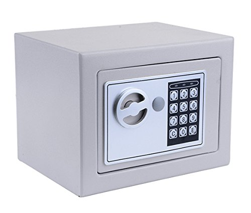 Security Digital Electronic Safe, Cabinet Safe with Keypad, Wall-Anchoring Lock Box for Home, Office or Travel (Gray)
