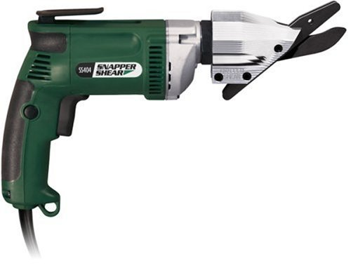 """PacTool SS404 Contractor Grade Snapper Shear For Cutting Up To 5/16"""" Fiber Cement Siding, 6.5 Amp Motor"""