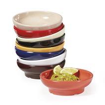 GET SD-05-R Melamine Salsa / Queso Ramekin Dish, 5 Ounce, Cobalt Red (Set of 12)