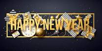 AOFOTO 6x3ft Happy New Year Backdrop Banner 2020 Clock Gifts Confetti Ornaments Adults Family Kids Portrait Photoshoot Photography Background Christmas Party Decoration Poster Photo Studio Props