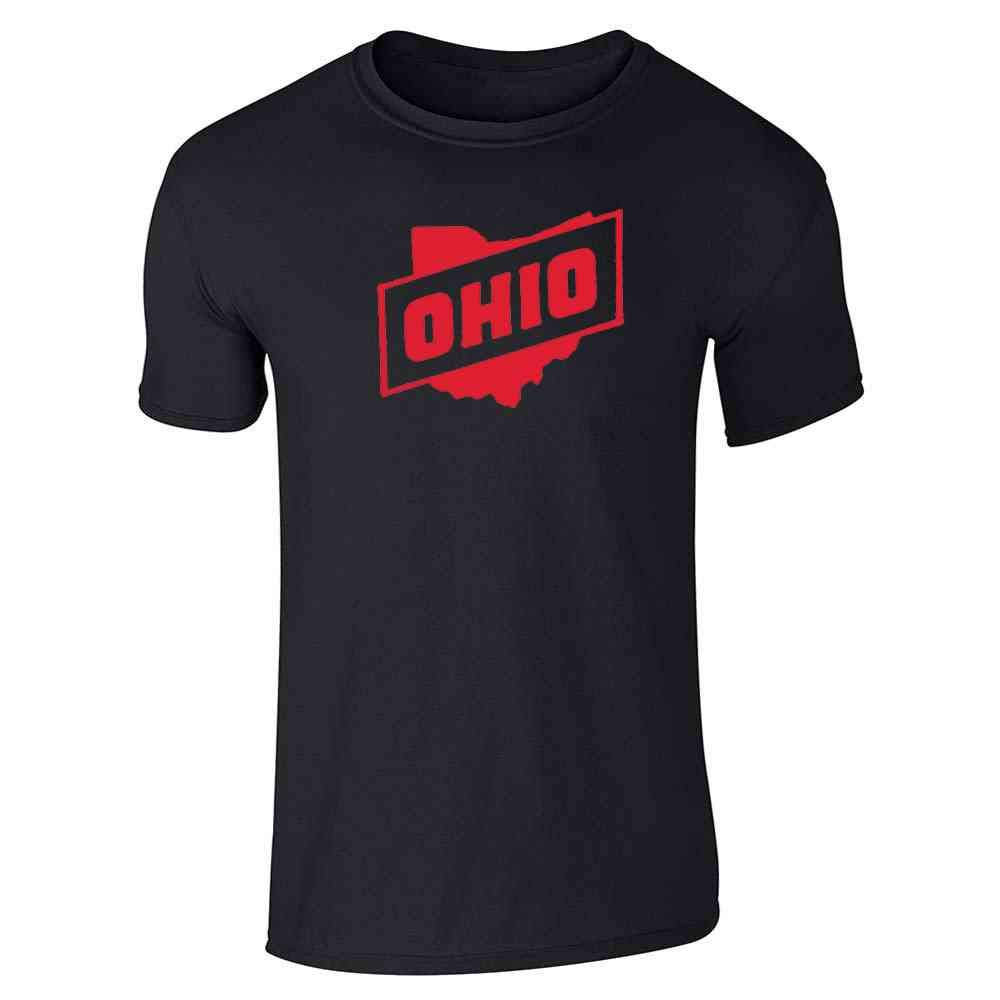 Ohio Retro Vintage State Travel Graphic Tee T-Shirt for Men