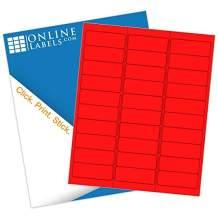 Neon Red Address Labels - 2.625 x 1 - Pack of 3,000 Labels, 100 Sheets - Inkjet/Laser Printer - Online Labels