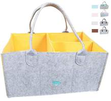 Baby Diaper Caddy Organizer: Large Organizer Tote Bag for Boys Girls Infant - Baby Shower Gift Bag Nursery Must Haves - Registry Favorites - Collapsible Newborn Caddie Car Travel (Yellow)
