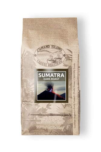 Camano Island Coffee Roasters - Organic Sumatra Dark Roast Coffee - Fresh Premium USDA Certified Organic, Shade Grown, Fair Trade, and Ethical