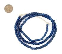 TheBeadChest Indonesian Glass Beads, Small Java Bali 4mm Spacers Jewelry Making Supplies for Necklaces, Bracelets, DIY Crafts (Vintage Cobalt Blue)