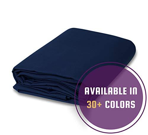 CCS CHICAGO CANVAS & SUPPLY 10 Ounce Cotton Canvas Fabric, 5 Yard Bolt, Navy Blue
