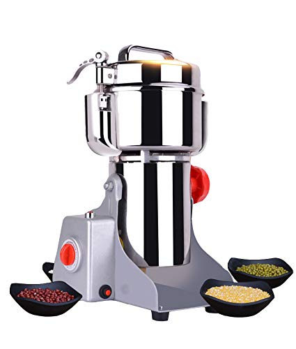 CGOLDENWALL Upgraded Electric Grain Grinder Mill High-speed Spice Herb Mill Commercial powder machine Dry Cereals Grinder CE (800g Swing Type)