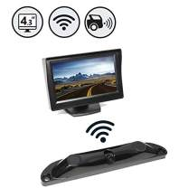 """Wireless Backup Camera System with Built-in Sensors and 120° Viewing Angle + 4.3"""" TFT LCD Monitor - Waterproof"""