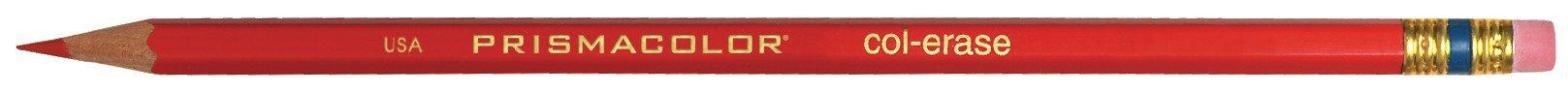 Prismacolor Col-Erase Erasable Colored Pencil, 12-Count, Red (20045)