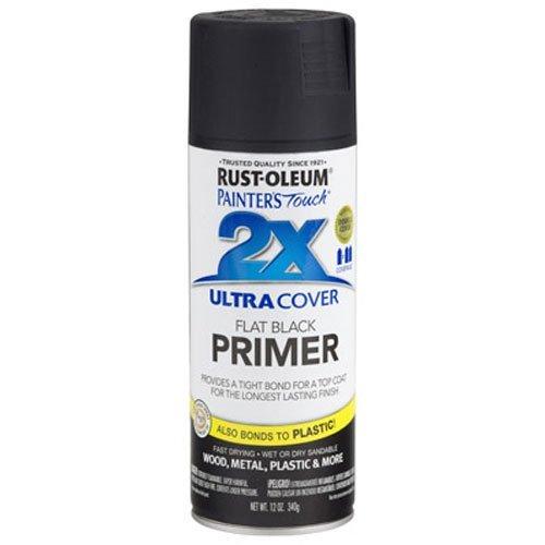 Rust-Oleum 249846 Painter's Touch Multi Purpose Spray Paint, 12-Ounce, Flat Black Primer