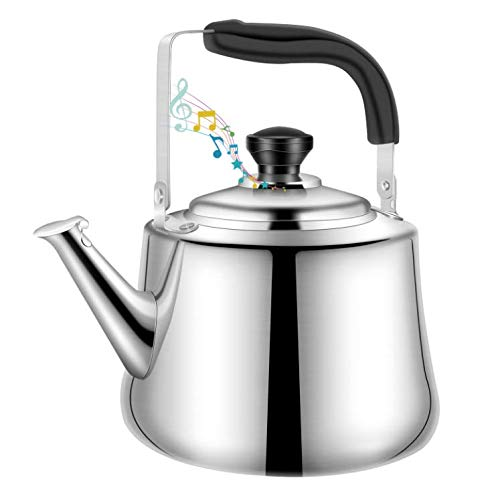 Tea Kettle for Stove Top Durable Stainless Steel Teakettle, 2.64 Quart Kettle for All Stovetop With Ergonomic Handle Whistling Teapot