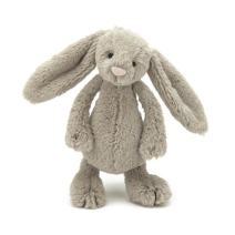 Jellycat Bashful Beige Bunny Stuffed Animal, Small, 7 inches
