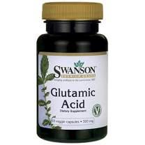 Swanson Amino Acid Glutamic Acid 500 Milligrams 60 Veg Capsules