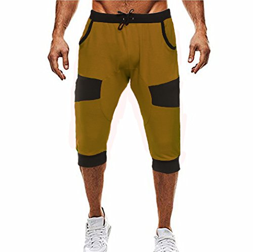 COOFANDY Men's 3/4 Casual Harem Training Gym Sport Shorts Jogger Capri Pants Baggy
