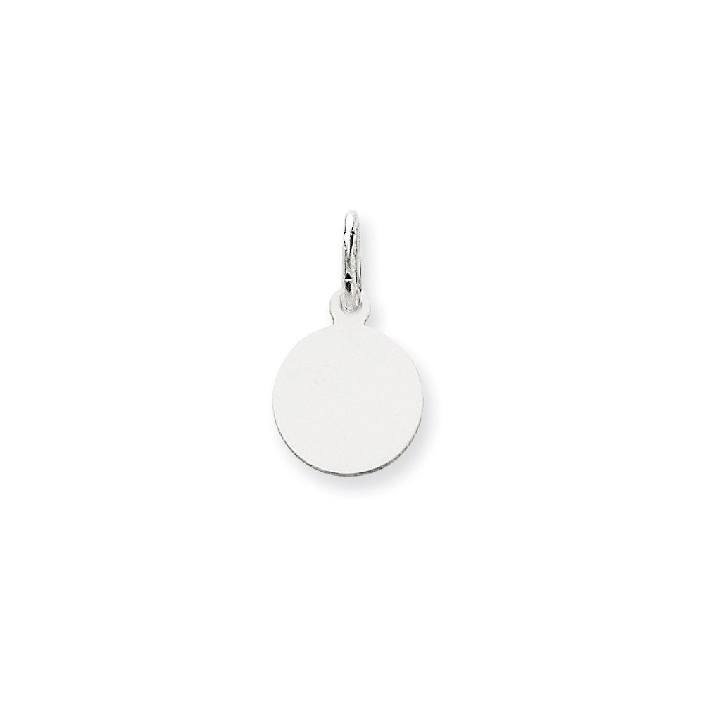 14k White Gold .009 Gauge Round Engravable Disc Pendant Charm Necklace Plain Fine Jewelry For Women Gifts For Her