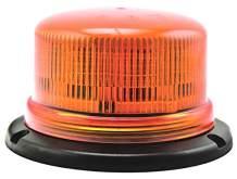 HELLA H27114011 K-LED 100 Pole Mount Beacon Warning Light, Flashing/Rotating Patterns, Waterproof, 12/24V, Amber