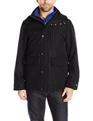 LONDON FOG Men's Cotton Poly Cropped 3 in 1 Parka