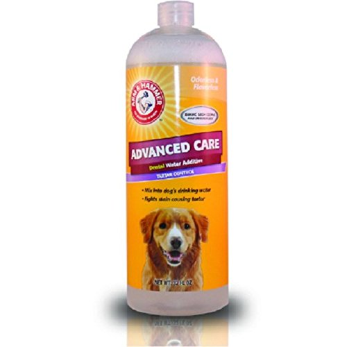 Arm & Hammer For Pets Dog Mouthwash | Dog Dental Water Additive for Fresh Dog Breath | Dental Water Additive for All Adult Dogs, Baking Soda Enhanced Formula with Vanilla Mint Flavor Dogs Love
