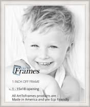 ArtToFrames WOM80801-WHT-15x18 Barnwood Wood Picture Frame, 15 x 18, Off White