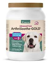 NaturVet – ArthriSoothe-Gold –Level 3 Advanced Joint Care–Supports Connective Tissue, Cartilage Health & Joint Movement – Enhanced with Glucosamine, MSM, Chondroitin & Green Lipped Mussel–Dogs & Cats