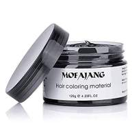 Black Hair Color Wax Temporary Hairstyle Cream 4.23 oz Hair Pomades Natural Hairstyle Wax for Kids Men Women Party Cosplay Date Haloween (Black)