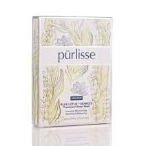 purlisse Blue Lotus and Seaweed Anti Aging Face Mask - Natural Korean Facial Sheet Mask for Soothing Aging Skin & Reduces Inflammation, 6 Pack Set of Sheet Masks