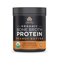 Ancient Nutrition Organic Bone Broth Protein Powder, Peanut Butter Flavor, 17 Servings Size - Organic, Gut-Friendly, Paleo-Friendly