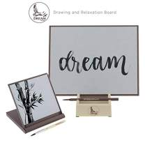 Creative Mark Dream Board Bundle Set for Water Painting Meditation & Stress Relief - Includes Artist Bamboo Paintbrush & Stand (Large and Mini Sizes Included)