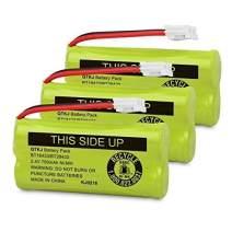 QTKJ BT184342 BT18433 BT284342 BT28433 BT-1011 BT-1018 BT-1022 Cordless Phone Battery for Vtech CS6209 CS6219 CS6229 DS6322 DS6151 DS6101 AT&T CL80100 CL80109 Uniden DCX400 BT-6010 DWX337 (3-Pack)