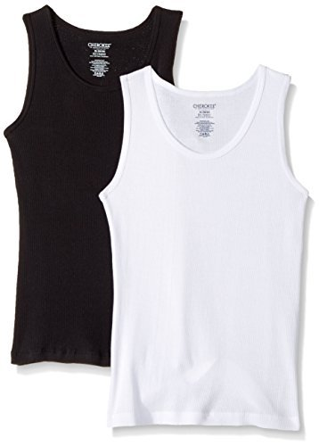 CHEROKEE Boys' 2-Pack Breathable Cotton Tank Tops Active Wear