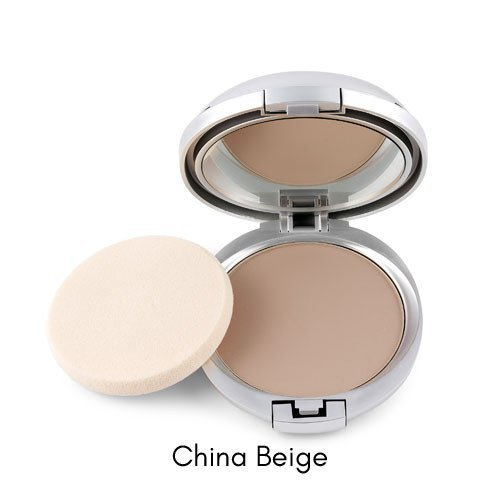 Ageless Derma Natural Mineral Makeup Foundation- A Healthy Vegan Pressed Powder. Made in USA (China Beige)