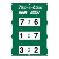 Oncourt Offcourt Turn-a-Score - Tennis Score Keeper/Attaches to Net/New UV Protection